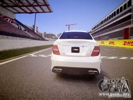 Mercedes-Benz C63 AMG Stock Wheel v1.1 para GTA 4 visión correcta