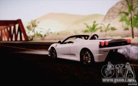 Ferrari F430 Scuderia Spider 16M para visión interna GTA San Andreas
