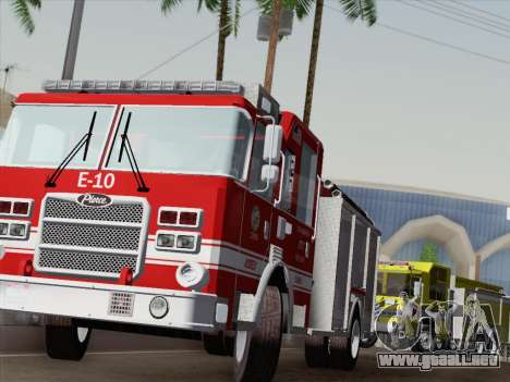 Pierce Saber LAFD Engine 10 para GTA San Andreas interior