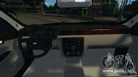 Chevrolet Impala Unmarked Detective [ELS] para GTA 4 vista hacia atrás