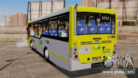 Busscar Urbanuss Pluss 2009 Le VIP Itaim Paulist para GTA 4 Vista posterior izquierda