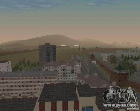 Nižegorodsk v0.5 BETA para GTA San Andreas segunda pantalla