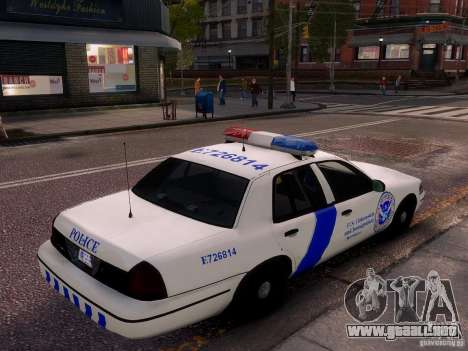Ford Crown Victoria Homeland Security para GTA 4 vista lateral