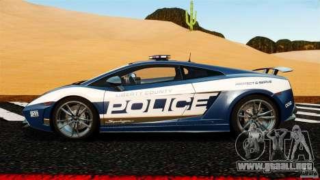 Lamborghini Gallardo LP570-4 Superleggera Police para GTA 4 left