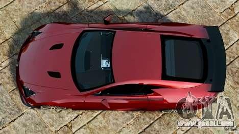 Lexus LFA 2012 Nurburgring Edition para GTA 4 visión correcta
