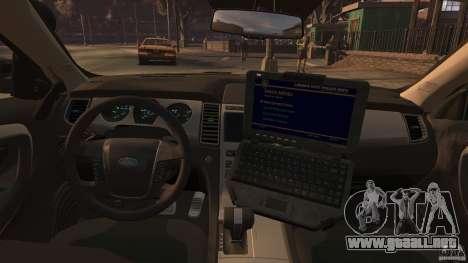 Ford Taurus Police Interceptor 2010 ELS para GTA 4 left