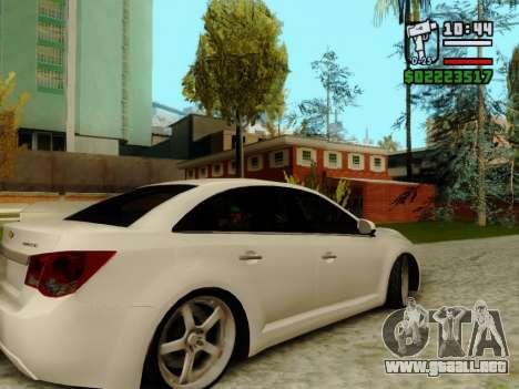 Chevrolet Cruze para GTA San Andreas vista hacia atrás