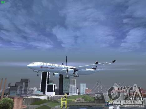 Airbus A330-300 Air Canada para vista inferior GTA San Andreas