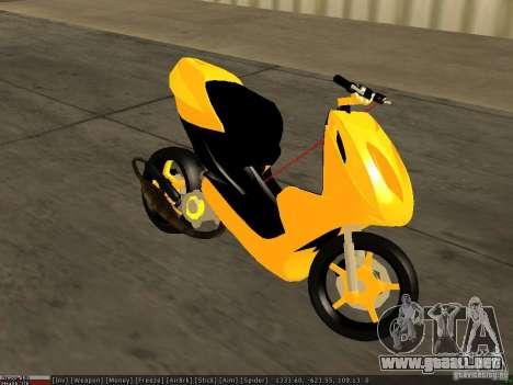 Yamaha Aerox para la visión correcta GTA San Andreas