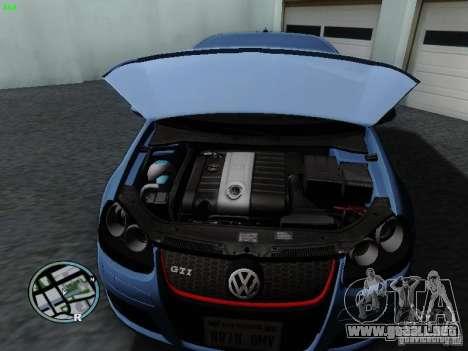 Volkswagen Golf V R32 Black edition para GTA San Andreas vista hacia atrás