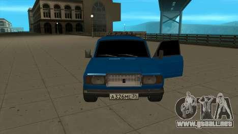 VAZ 2107 Ford para la visión correcta GTA San Andreas