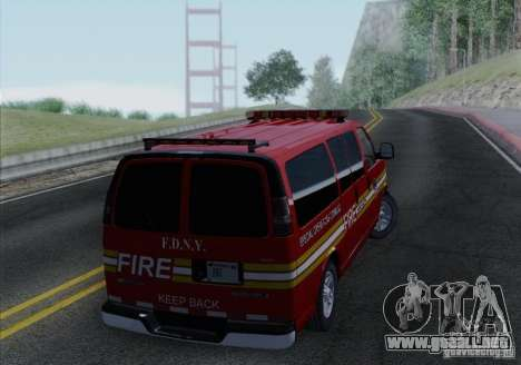 Chevrolet Express Special Operations Command para la visión correcta GTA San Andreas
