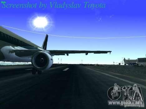 Airbus A320-214 Alitalia v.1.0 para visión interna GTA San Andreas