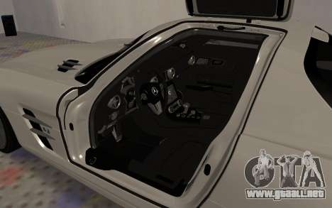 Mercedes-Benz SLS AMG 2010 para vista lateral GTA San Andreas