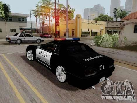 Elegy Police LS para GTA San Andreas left