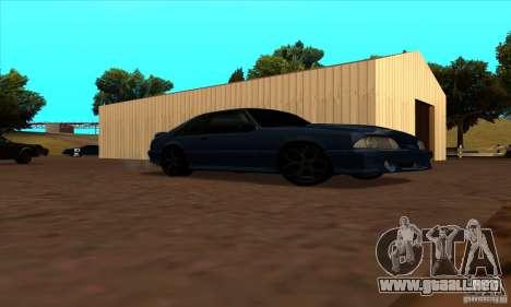 Ford Mustang SVT Cobra 1993 para visión interna GTA San Andreas