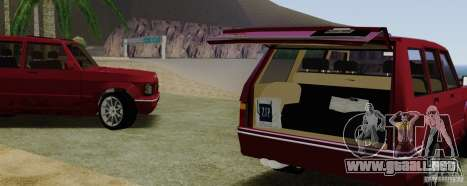 Huntley Freelander para GTA San Andreas vista hacia atrás