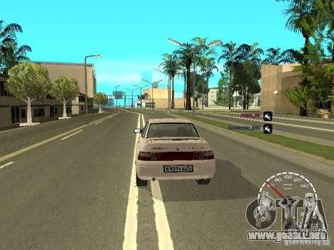 Velocímetro Lada Priora para GTA San Andreas tercera pantalla
