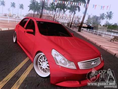 Infiniti G37 Sedan para las ruedas de GTA San Andreas