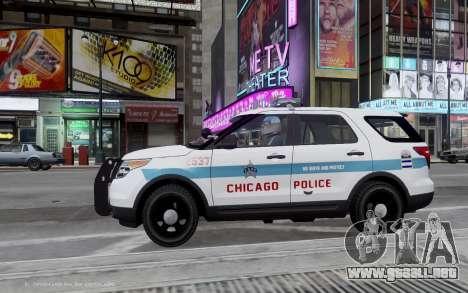 Ford Explorer Chicago Police 2013 para GTA 4 left