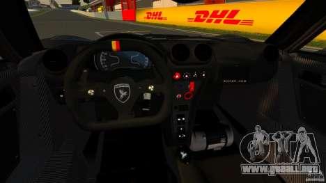 Gumpert Apollo Enraged 2012 para GTA 4 vista hacia atrás