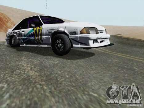 Ford Mustang Drift para GTA San Andreas left
