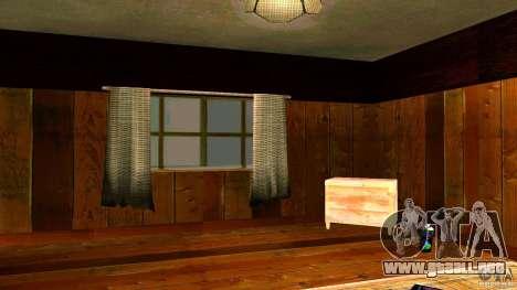 Nuevas texturas para la casa de CJ para GTA San Andreas sucesivamente de pantalla