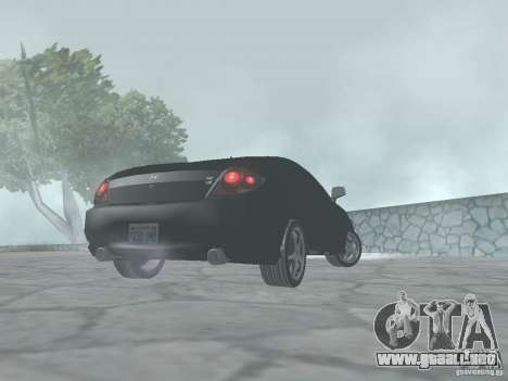 Hyundai Tiburon GT para GTA San Andreas vista posterior izquierda