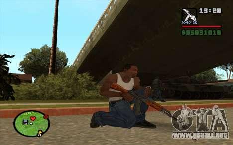 AKM para GTA San Andreas segunda pantalla