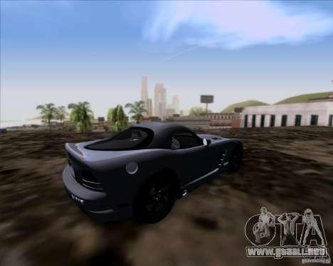 Dodge Viper SRT-10 Coupe para GTA San Andreas vista posterior izquierda