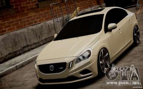 Volvo S60 R-Design 2011 para GTA 4 visión correcta