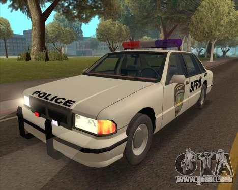Updated SFPD para GTA San Andreas vista posterior izquierda