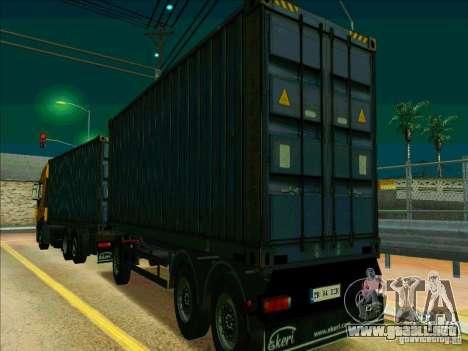 Trailer de Iveco Stralis para la visión correcta GTA San Andreas