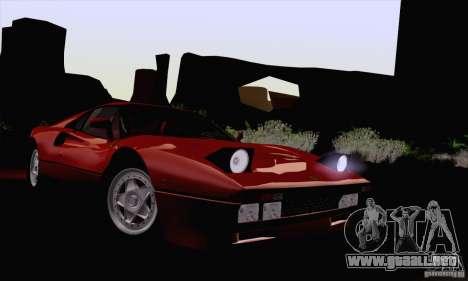 Ferrari 288 GTO 1984 para GTA San Andreas vista hacia atrás