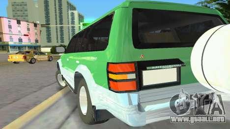 Mitsubishi Pajero 1993 para GTA Vice City vista posterior