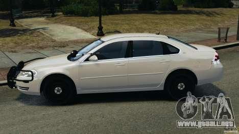 Chevrolet Impala Unmarked Detective [ELS] para GTA 4 left