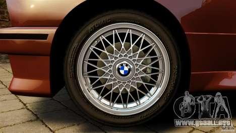 BMW M3 E30 Stock 1991 para GTA 4 vista hacia atrás