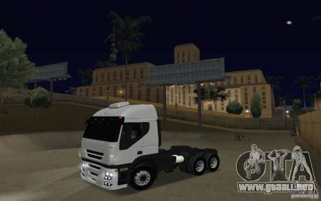 Iveco Stralis Double Trailers para GTA San Andreas left