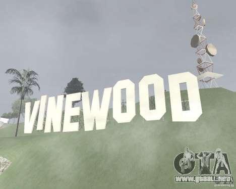 Zona de restricción de Vinewood para GTA San Andreas