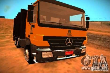 Mercedes Benz Actros Basura IM Santiago para GTA San Andreas left