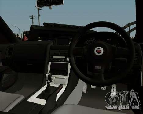 Nissan Skyline GTR R34 para vista lateral GTA San Andreas