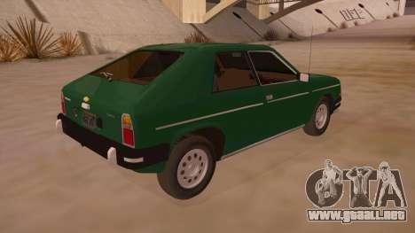 Chevrolet Chevette 1976 para la visión correcta GTA San Andreas
