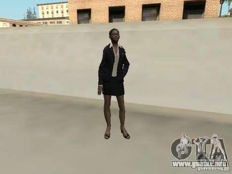 Piel femenina del FBI. para GTA San Andreas sucesivamente de pantalla