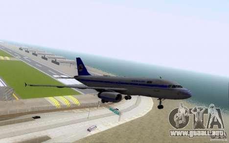 Airbus A-319 Azerbaijan Airlines para la vista superior GTA San Andreas