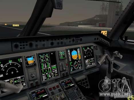 Embraer ERJ 190 USAirways para la vista superior GTA San Andreas