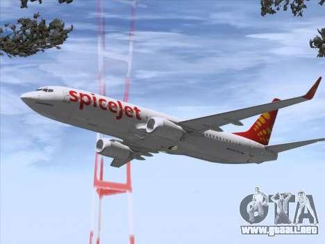 Boeing 737-8F2 Spicejet para las ruedas de GTA San Andreas