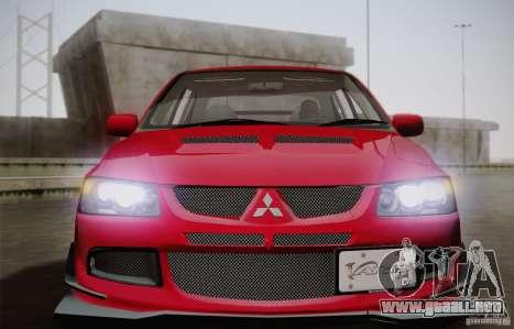 Mitsubishi Lancer Evolution VIII MR Edition para la visión correcta GTA San Andreas