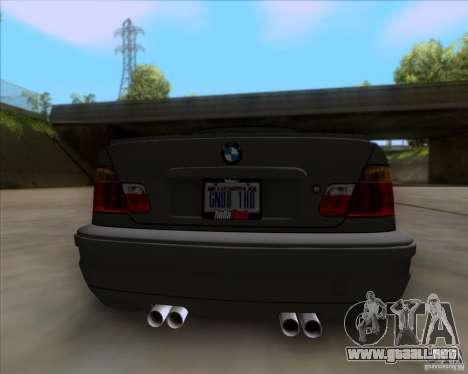 BMW 3-er E46 Dope para GTA San Andreas vista hacia atrás