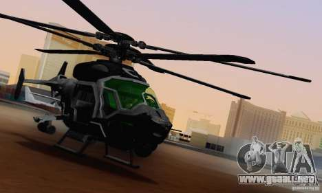 Helicóptero AH-2 Сrysis 50 C.E.L.L. para visión interna GTA San Andreas