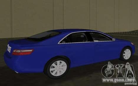 Toyota Camry 2007 para GTA Vice City vista lateral izquierdo